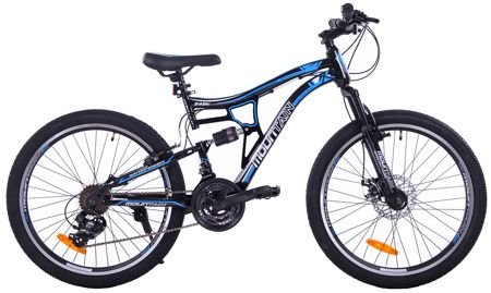 "MOUNTAIN FULL 24"" 1XT FD/RV black/blue"