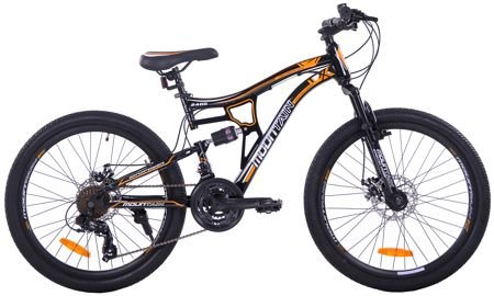 "MOUNTAIN FULL 24""  2XT FD/RD black/orange"