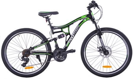 "MOUNTAIN FULL 26"" 1XT FD/RV black/green"