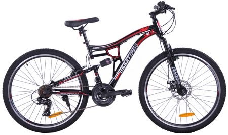 "MOUNTAIN FULL 26"" 1XT FD/RV black/red"